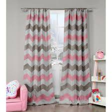 Pink And Gray Shower Curtain by Fifferly Grey And Pink 84 X 38 In Two Piece Curtain Set Duck