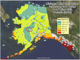 Alaska On Map by Brian B U0027s Climate Blog U S U0026 Alaska Wind Chill Record
