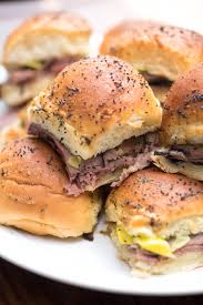 thanksgiving roast beef recipe italian roast beef sliders with provolone and pepperoncini