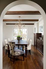 Tuscan Dining Room Magnificent Tuscan Dining Room With Built In Wooden Bookshelf