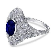 diamond cocktail rings edwardian sapphire diamond cocktail ring in platinum