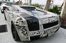 future rapper cars sharpie drawn all over a lamborghini gallardo cars boats and