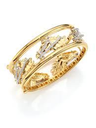 white gold yellow gold bracelet images Lyst roberto coin cheval diamond 18k yellow gold 18k white jpeg