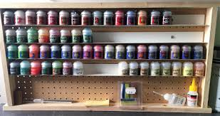 building an inexpensive citadel paint rack in the paint room