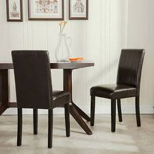 Dining Room Chairs Leather by Leather Dining Room Chairs Ebay