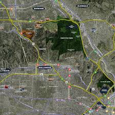 los angeles aerial wall mural landiscor real estate mapping 2017 los angeles wall map mural standard print scale 96 x76