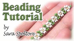 diy beaded flower bracelet images Beadsfriends bead flowers for beginners daisy chain diy ring jpg