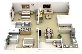 Bedroom Floorplan by 50 3d Floor Plans Lay Out Designs For 2 Bedroom House Or Apartment