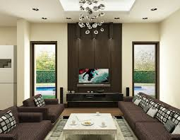 living room modern home living room with brown wall combined