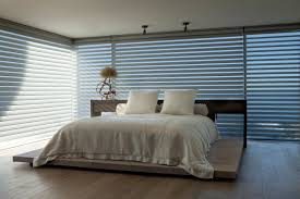 alluring modern brown color blinds design ideas with white wall