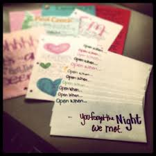 Romantic Gifts For Him For Christmas - heather u201c u201dopen when u201d letters i made for my darlin u0027 i can do this