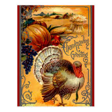 fashioned thanksgiving postcards zazzle