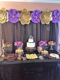 purple and gold tables lsu themed dinner party luke u0027s lsu