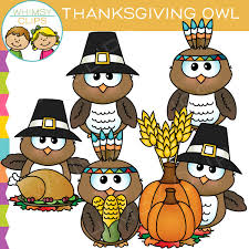 thanksgiving owl clip illustrations on creative market