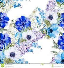 anemones flowers anemones flowers pattern stock vector image 51313839