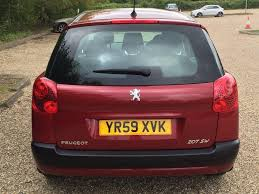 peugeot 207 red used 2009 peugeot 207 sw 1 4 vti s 5dr a c for sale in ongar