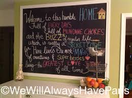 chalkboard in kitchen ideas we will always chalkboard