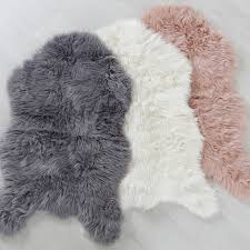 White Skin Rug Flooring Faux Fur Area Rug Animal Fur Rugs Fake Fur Rugs