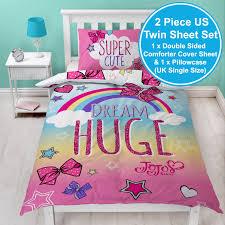 jojo siwa bows rainbow single duvet cover set kids bedding 2