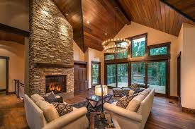 timber frame great room lighting timber frame home lighting rustic living room seattle by