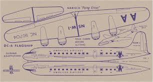 American Airlines Route Map Pdf by Card 1 U2014 Dc 6 Flagship American Airlines Vintage Paper Models