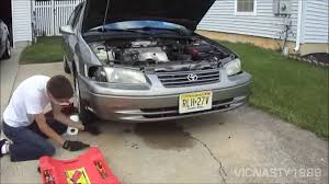 1999 toyota camry front bumper putting the front bumper cover back on the 99 camry le