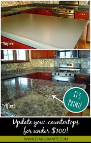 Inexpensive Kitchen Countertops Kitchen Affordable Countertop Makeover Paint That Looks Like