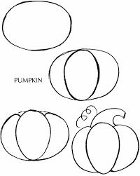 pumpkin thanksgiving pencil and in color pumpkin