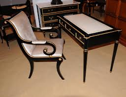 desk and chair set amazing writing desk and chair set regarding regency black lacquer