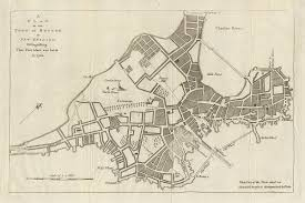 Boston Downtown Map by Great Boston Fire Of 1760 Wikipedia