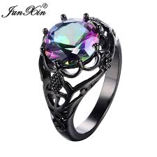 aliexpress buy junxin new arrival black junxin mistery big men women rainbow rings black gold