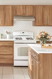 kitchen backsplash with oak cabinets and white appliances 44 top arabesque tile kitchen backsplash design ideas