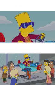 Bart Simpson Meme - dopl3r com memes bart simpson conduciendo plantilla