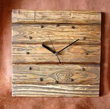 wooden clock designs rustic pallet wood wall clock by