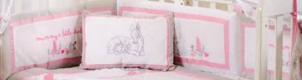 Cot Bumper Sets Baby Bedding Sets Pink Dearest Bambi 4 Pc Crib Bedding Set Baby