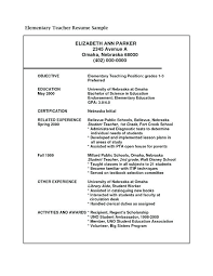 sample resume objectives for teachers writing a resume objective