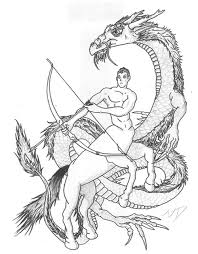 sagittarius archer and dragon tatt by thearcaine on deviantart