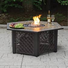 walmart outdoor fireplace table hex lp gas fire pit bowl with slate tile mantel walmart com