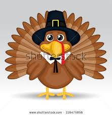 turkey character with thanksgiving hat vector free