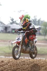 motocross helmet mohawk six year old motocross marvel from flint leaves others in dust