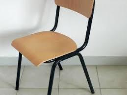 chaise d colier chaise d écolier bois et métal gris anthracite par dans mon placard