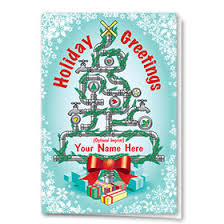 plumbing christmas cards construction holiday greeting cards