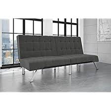 Grey Modern Sofa by Amazon Com Dhp Emily Futon Couch Bed Modern Sofa Design Includes