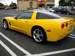 yellow corvette c5 2002 yellow chevrolet corvette coupe for sale export only