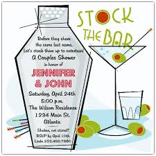 stock the bar invitations retro martini stock the bar shower invitations paperstyle