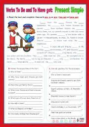 english teaching worksheets present simple affirmative