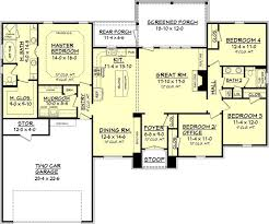 european style house plan 4 beds 2 5 baths 2617 sq ft 646 best house plans images on pinterest floor plans house floor