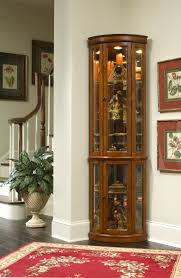 Corner Curio Cabinet Walmart Furnitures Fill Your Home With Dazzling Curio Cabinets For
