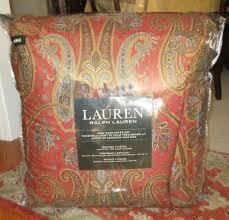Ralph Lauren Sheet Set Ralph Lauren King Comforter Set 4 Pc Equestrian William Red