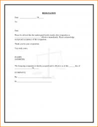 simple resignation letter template 28 free word excel tips on